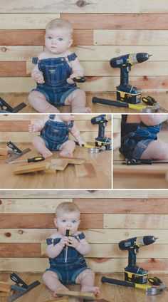 Adorable Father's Day shoot... take pictures of baby doing all of Dad's favorite things