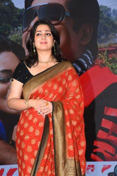 Indian Actress Charmi In Red Saree At Sakshi Excellence Awards - TOLLYWOOD STARS  IMAGES, GIF, ANIMATED GIF, WALLPAPER, STICKER FOR WHATSAPP & FACEBOOK