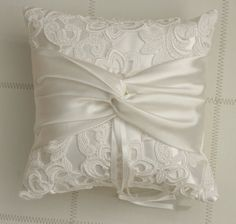Ring bearer pillow Ivory Lace Ring Pillow by antiquebridal on Etsy