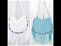 Crochet Festival Beaded and Fringed HandBag