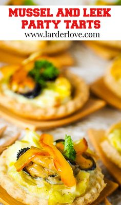 Mussel and leek party tarts are easy to make and packed with amazing flavour. #partypies #partyfood #partynibbles #mussels #larderlove Leek Tart, Nibbles For Party, Scottish Recipes, Larder, Mussels, Appetisers, The Dish, Tarts, Great Recipes