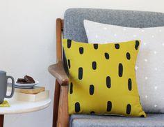 Gold Brushstrokes Pillow | Cotton & Flax