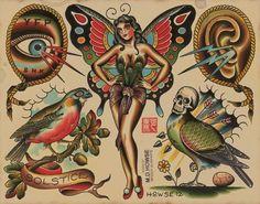 Amazing Flash from Spider Murphy's Tattoo Source by jasonbroski Traditional Tattoo Old School, Traditional Tattoo Design, Traditional Ink, Traditional Tattoo Flash, American Traditional, Pin Up Tattoos, Body Art Tattoos, Tattoo Drawings, Tatoos