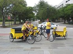 Charleston Bike Taxi a pedicab rickshaw cab company in Charleston SC biketaxi.net $5.00 per person per 10min (you can get almost anywhere in downtown Charleston in 10min) it works out to $1.00 per minute for 2 people