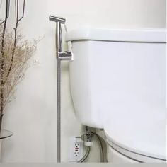 qc14206 stainless steel chrome finish toilet bathroom handheld spray shower bidet rinse with supply hose and