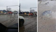 Ямочный ремонт в дождь на окраине Саратова в поселке Александровка      #Саратов #СаратовLife