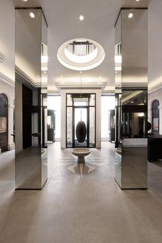 SPACE Copenhagen is a multi disciplinary design studio founded by Signe Bindslev Henriksen and Peter Bundgaard Rützou. Columns Decor, Interior Columns, Retail Interior Design, Retail Store Design, Interior Architecture, Interior Shop, Retail Stores, Hotel Interiors, Office Interiors