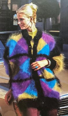 Sans titre — kayskinks: Classic fluffy cable. You don't see... Gros Pull Mohair, Purple Cardigan, Angora Sweater, Cat Walk, Vintage Wool, Wool Sweaters, Cool Pictures, Photos, Sweaters For Women
