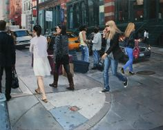 """""""Street corner in SOHO,"""" by Vincent Giarrano (an oil on panel, 24""""x30"""")"""