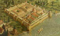ディオクレティアヌス宮殿の再現図