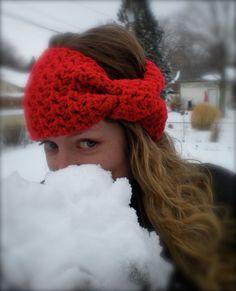 PATTERN: Ear warmer, head band, hair band, hat, crochet, winter, giant bow, easy crochet, ski band, pdf