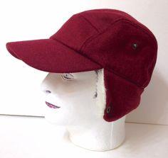 eed4e3264f957 Men Sm max 71 4 MAROON TRAPPER FIVE 5 PANEL HAT Winter Ear Flap Outdoor  Faux-Fur