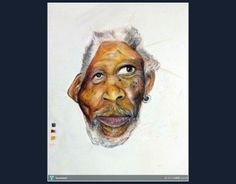 HBD...Morgan Freeman /Movie Actor #Creative #Art #Painting @Touchtalent.com
