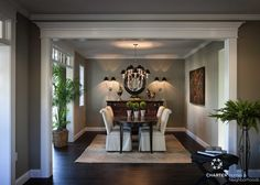 The dining room at the Wellesley - love the great sight line from the living room.