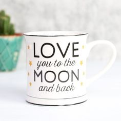 White 'Love You to the Moon and Back' Mug