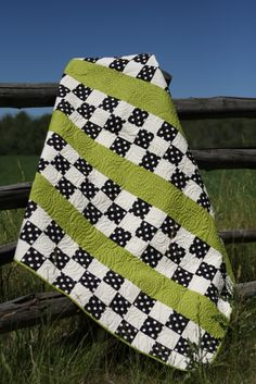 Black white checkered with green accent, love this!!