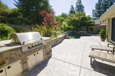 Outdoor kitchen in Napa Valley. Country Club living! Additional photos and information at http://naparealestatematch.com/listing/198-westgate-dr-napa-ca-94558/
