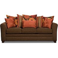 @Overstock.com - Beautyrest Avignon Earth Sofa - If you love the comfort of a Beautyrest mattress in your bedroom, prepare to be wowed by this plush living room sofa. The pocketed coils make for exceptional support, and the multi-hued pillows make this couch a living room focal point.  http://www.overstock.com/Home-Garden/Beautyrest-Avignon-Earth-Sofa/6820295/product.html?CID=214117 $811.79