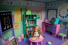 Barbie Box School House Play Set from Pink and Green Mama blog