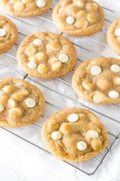 White chocolate chip cookies are soft, chewy, and filled with delicious white chocolate in every bite. The perfect cookie recipe for white chocolate lovers White Chocolate Recipes, White Chocolate Chip Cookies, Chocolate Lovers, Delicious Cookie Recipes, Best Cookie Recipes, Cake Recipes, Crazy Cookies, Yummy Cookies, Peanut Butter Frosting Easy