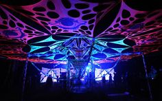 psy trance party decor