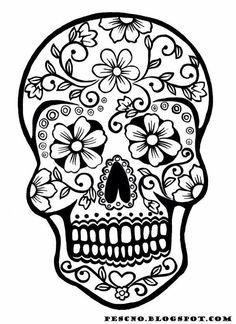 Catrinas Sugarskull, Colorear, Dibujos, Calaveritas, Mandalas, Ofrenda, Noviembre, Carabela, Imprimir