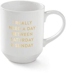 Fringe Studio 'Saturday' Porcelain Mug