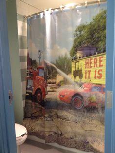 Cars Second Bathroom Shower Curtain