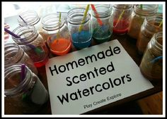 Homemade Scented Watercolors   - Pinned by @PediaStaff – Please Visit http://ht.ly/63sNt for all our pediatric therapy pins