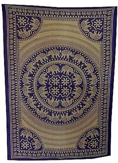 Psychedelic-Elephant-Mandala-Tapestry-Bohemian-Wall-Hanging-Home-Decor-Coverlet