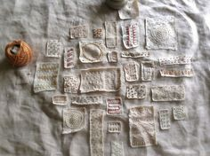 Bonnie Sennott, artist, designer...beautiful daily embroidery which becomes a larger finished piece of work