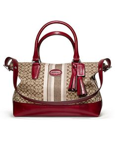 COACH LEGACY SIGNATURE STRIPE MOLLY SATCHEL - COACH - Handbags & Accessories - Macy's