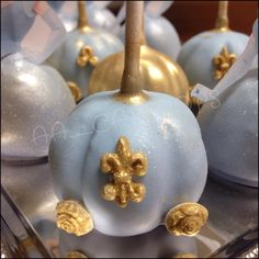 Cinderella Carriage Cake Pops