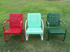 Three great chairs from the 1950's. Love these... someone on our block always had at least one!