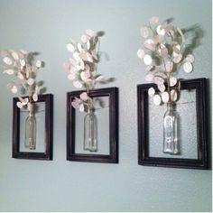 Vases framed #handmade // Jarrones enmarcados #manualidades