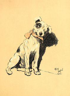 Cecil Aldin  A Dog Day Illustration from by VandRVintagePrints, £3.00