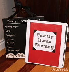Family Home Evening Chart and Lesson Binder