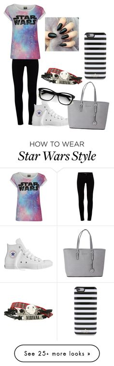 """Untitled #445"" by caitlinmmerriman on Polyvore featuring J Brand, Converse, Michael Kors and Kate Spade"