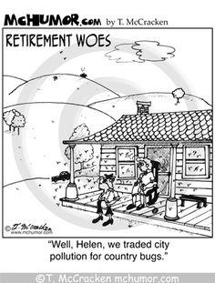 Comic strip on retirement