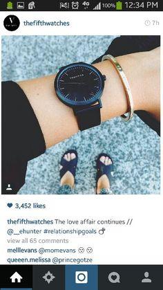 a black watch Jewelry Accessories, Fashion Accessories, Diamond Are A Girls Best Friend, Fashion Beauty, Jewelry Watches, Bling, My Style, Stylish, Pretty