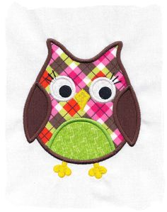 Owl Machine Embroidery Applique Design by pinkfrogcreations, $2.80