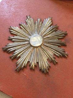 Raggiera statue santi 10 Cm ottone cesellato santo Bagno Argento