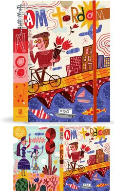 Amsterdam Journal by Nate Williams Illustration and Hand Lettering