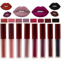 YULUOSHI Brand Maquiagem Matte Lip Gloss Liquid Lipstick Make up Matt Lipgloss Women Beauty Cosmetics Sexy Lip Blam Lips Makeup