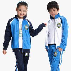 Ropa infantil para los niños y niñas escuela pupila conjunto uniforme ropa  deportiva primavera estudiantes de f4492379fa406
