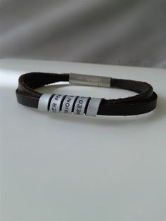 Mens personalizedSilver 935 Gift for men Gifts for him Leather