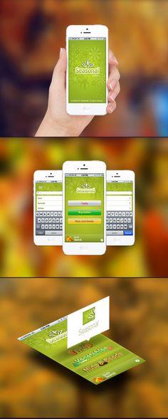 Seasonal application, iphone, mobile, flowers, colorful