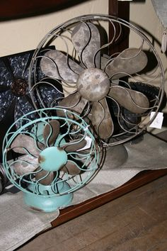 Vintage fans are perfect for your summer decor! Vintage fans, antique fans, summer decor, home decor