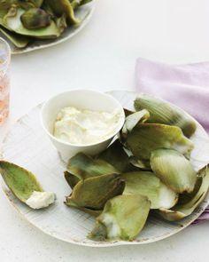 Steamed Artichokes with Lemon-Garlic Aioli Recipe