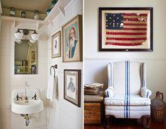 Rejuvenation Salvage Sighting: Enjoy a dash of nostalgia & a splash of vintage on a walk-through this craftsman house crush via Natty Michelle blog.